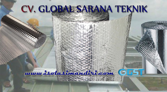 Peredam Suara Atap Aluminium Bubble