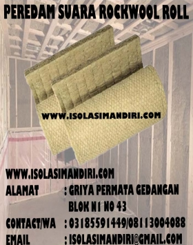 ROCKWOOL ROLL PEREDAM SUARA DENSITY100